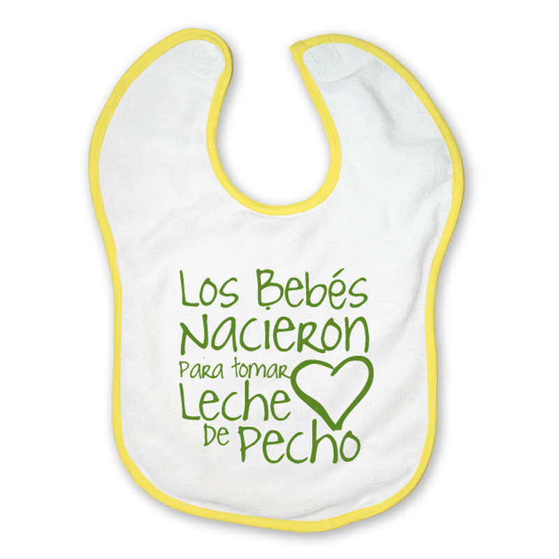 Breastfeeding Born to be Breastfeed Velcro Bib - Spanish