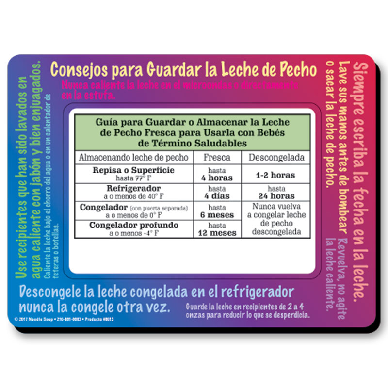Magnet Breastmilk Storage - Spanish