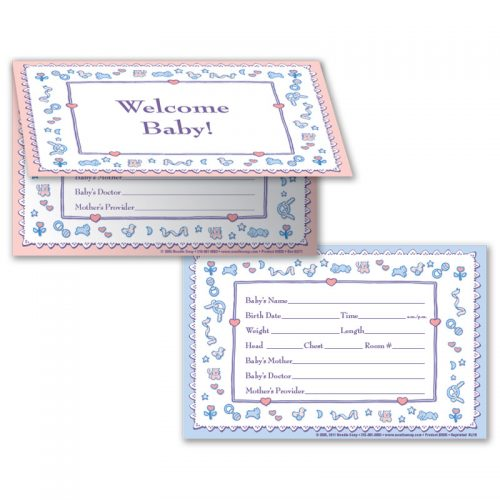 Crib Card Welcome Baby