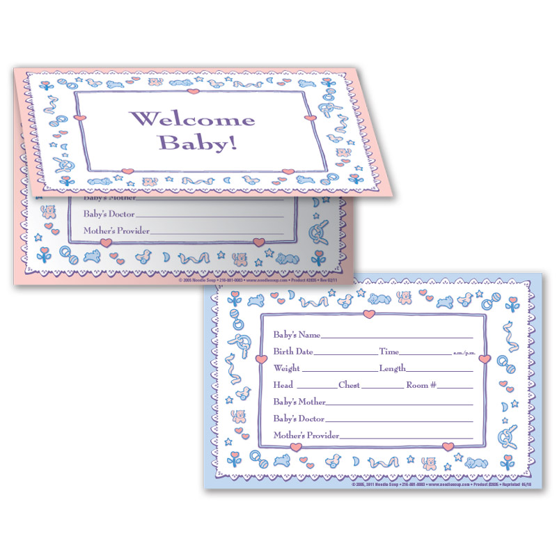Crib Card Welcome Baby