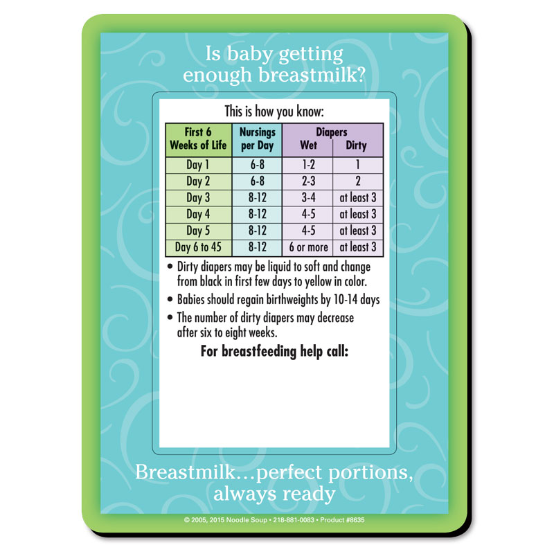Magnet Diaper Count - English