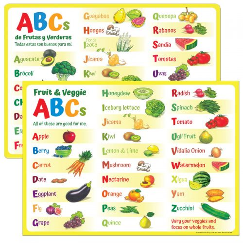 Fruit and Veggie ABC Placemat