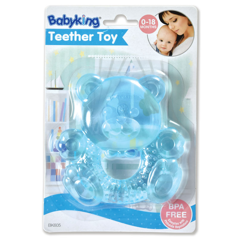 Water Filled Teether Rattles - Blue Bear