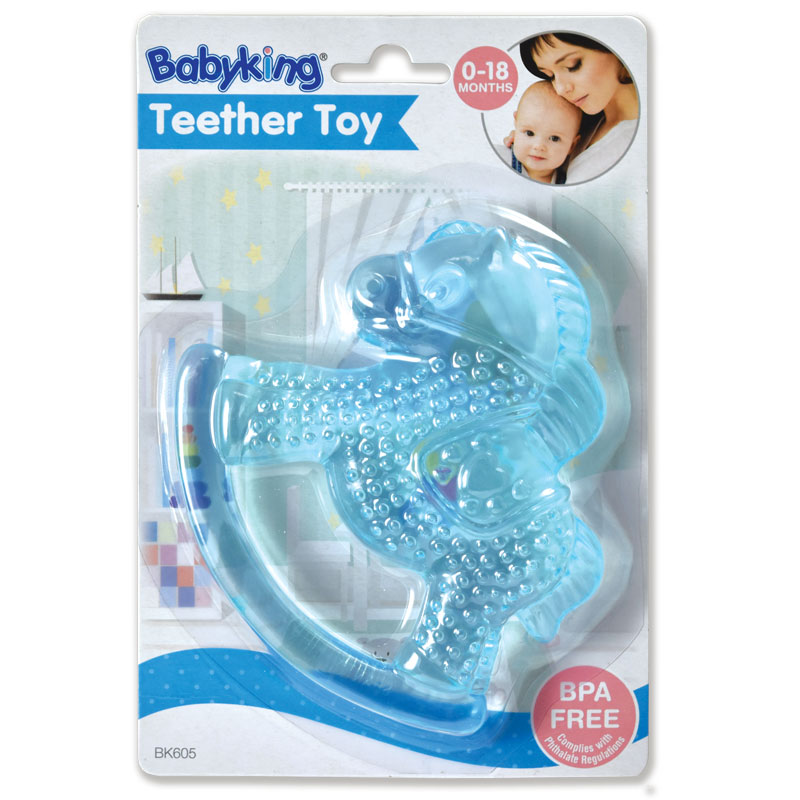 Water Filled Teether Rattles - Blue Horse