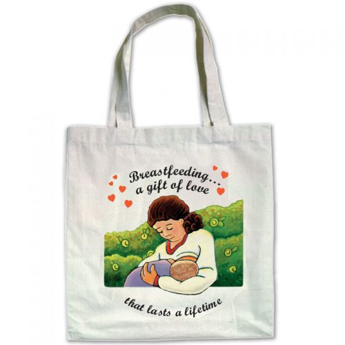 Canvas Bags Breastfeeding a Gift of Love - English