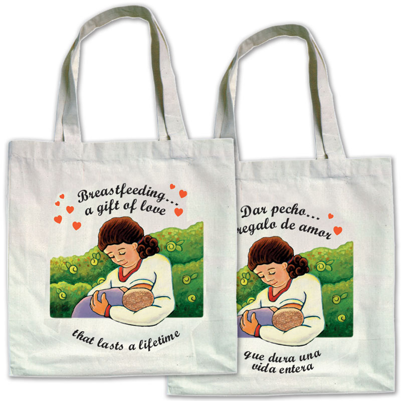 Canvas Bags Breastfeeding a Gift of Love