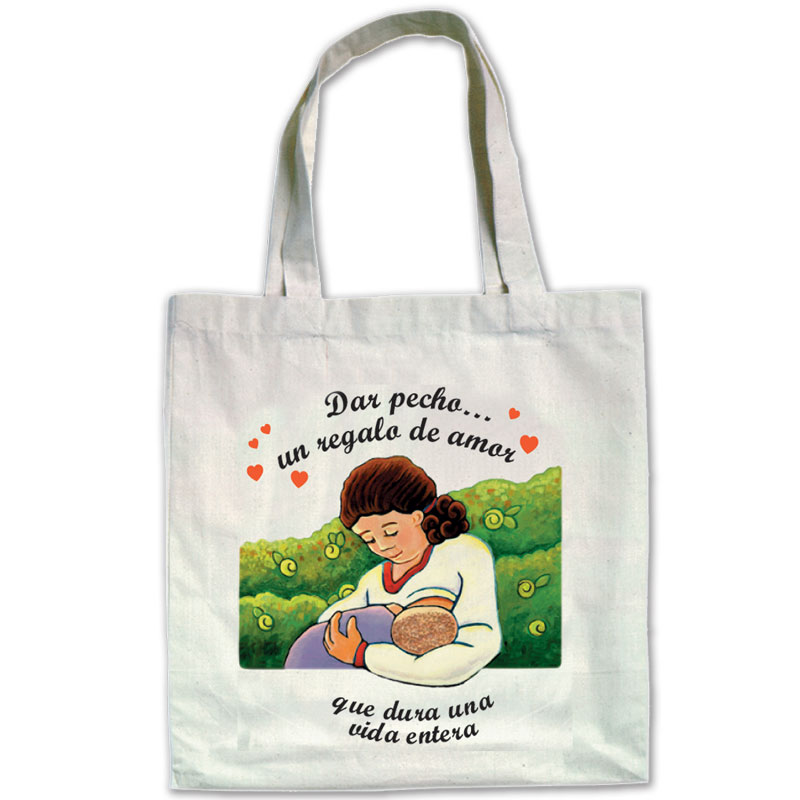 Canvas Bags Breastfeeding a Gift of Love - Spanish