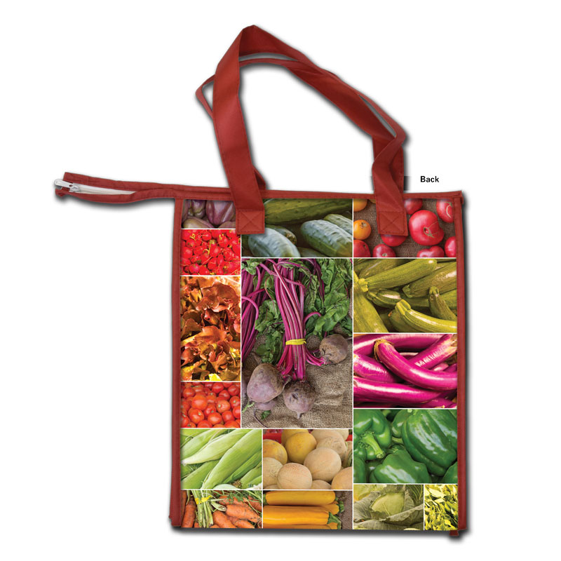 Farmers Market Insulated Grocery Tote - back