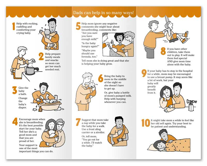 10 Tips on How Dad Can Help - English