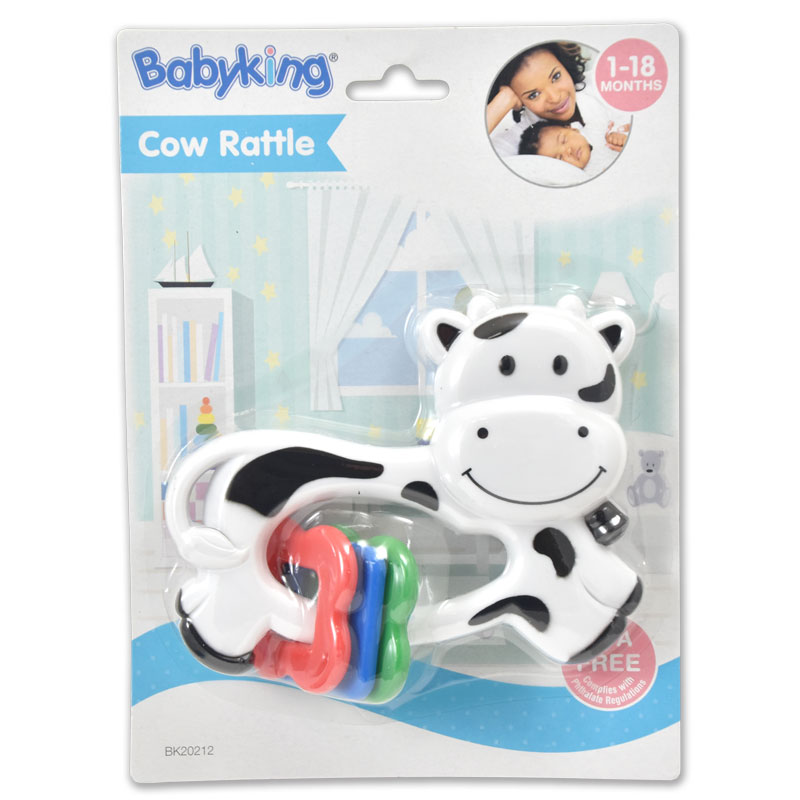 Cow Rattle Toy