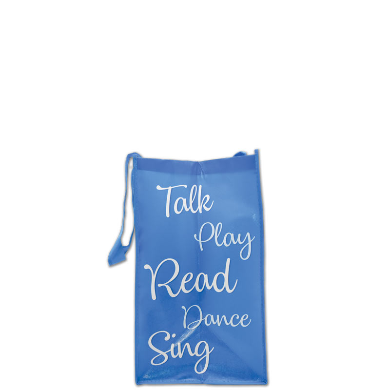What you teach from birth to three laminated grocery tote - side