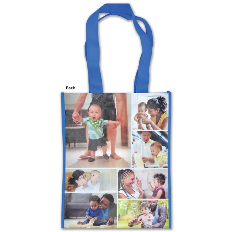 What you teach from birth to three laminated grocery tote - back