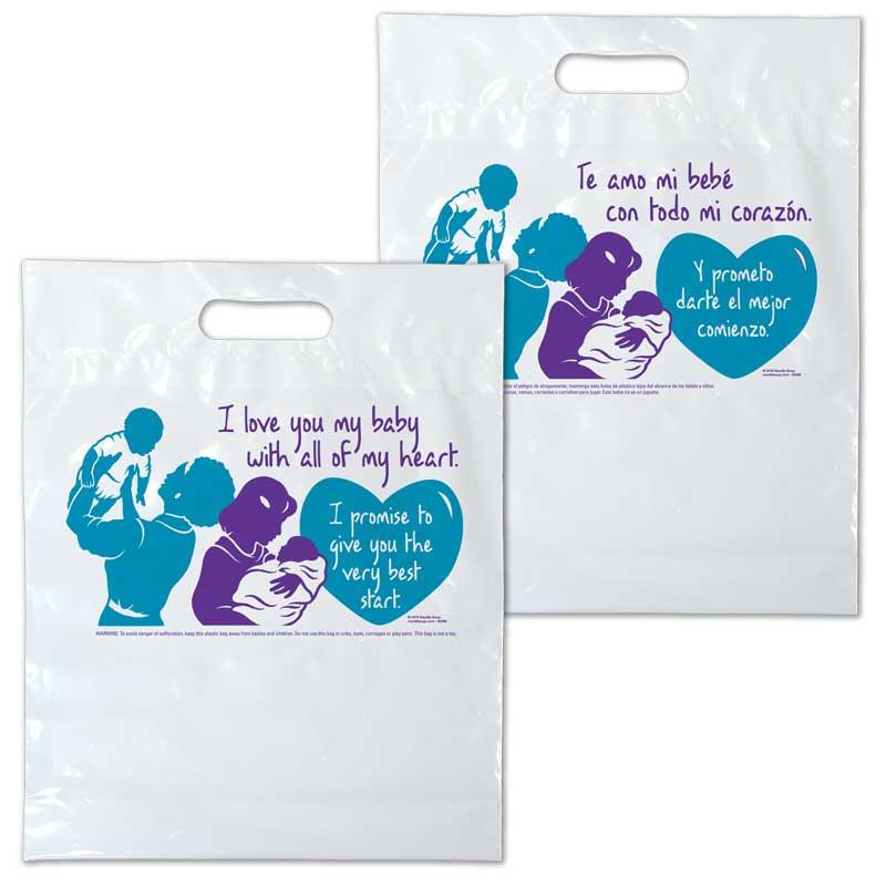 I Love You plastic bag - Bilingual