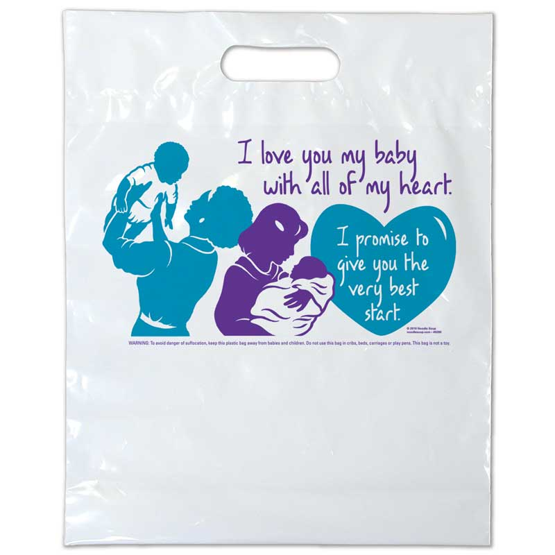 I Love You plastic bag - English