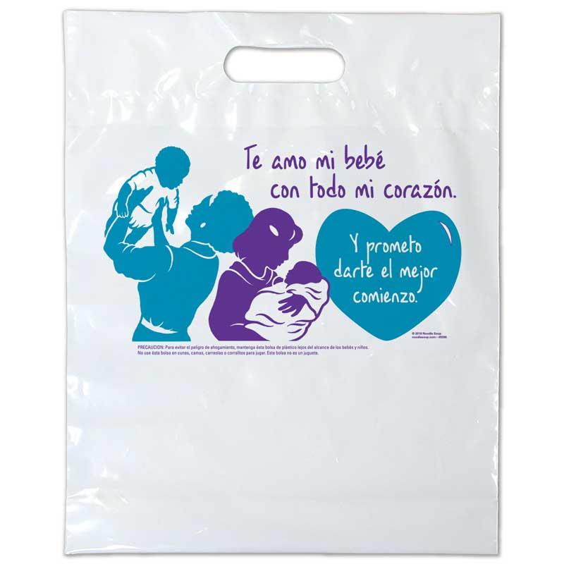 I Love You plastic bag - Spanish
