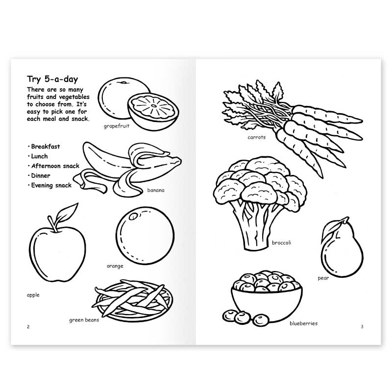 Eating More Fruits And Vegetables Coloring Book : Noodle Soup
