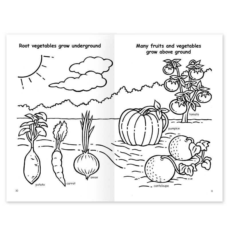 Eating More Fruits and Vegetables coloring book