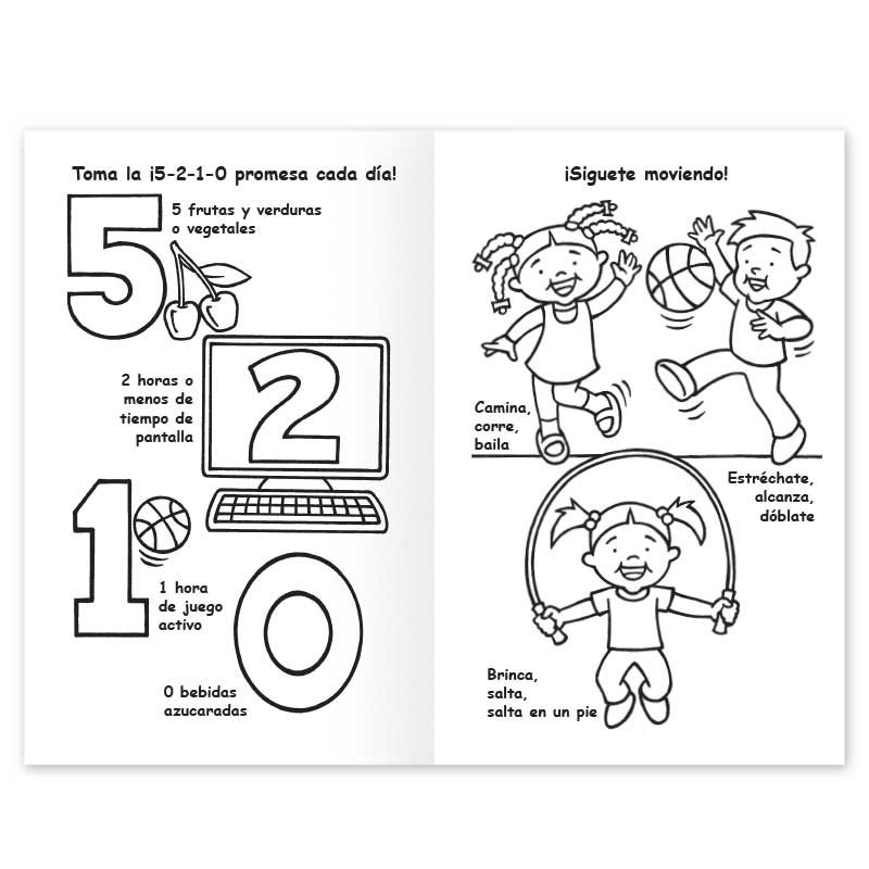 Eating More Fruits and Vegetables coloring book - Spanish