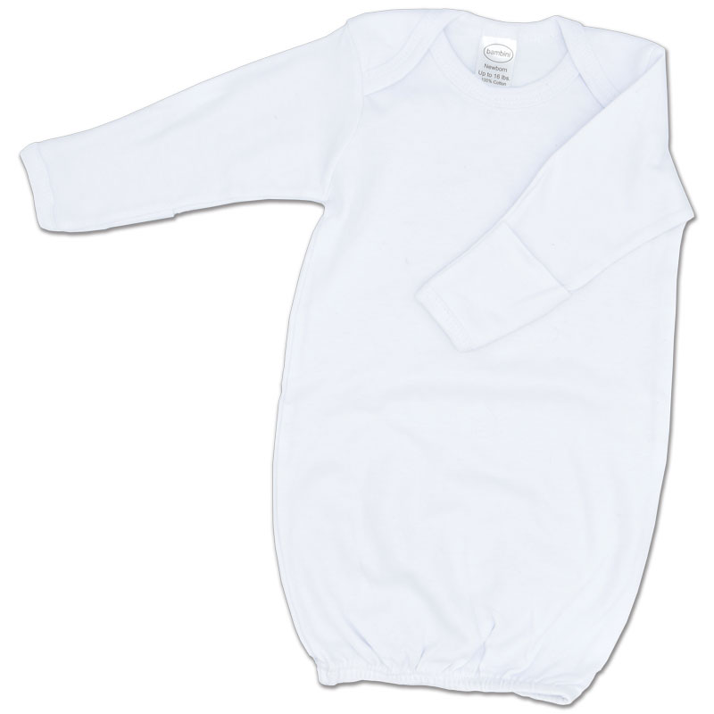 White Cotton Infant Gown