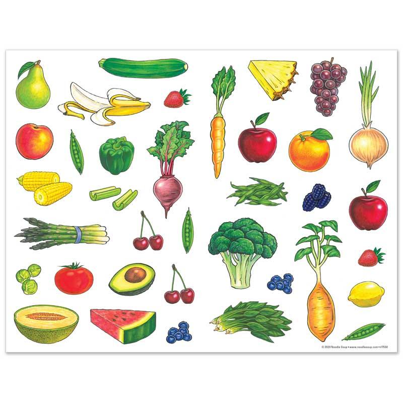 Fruit & Veggie Sticker Sheet