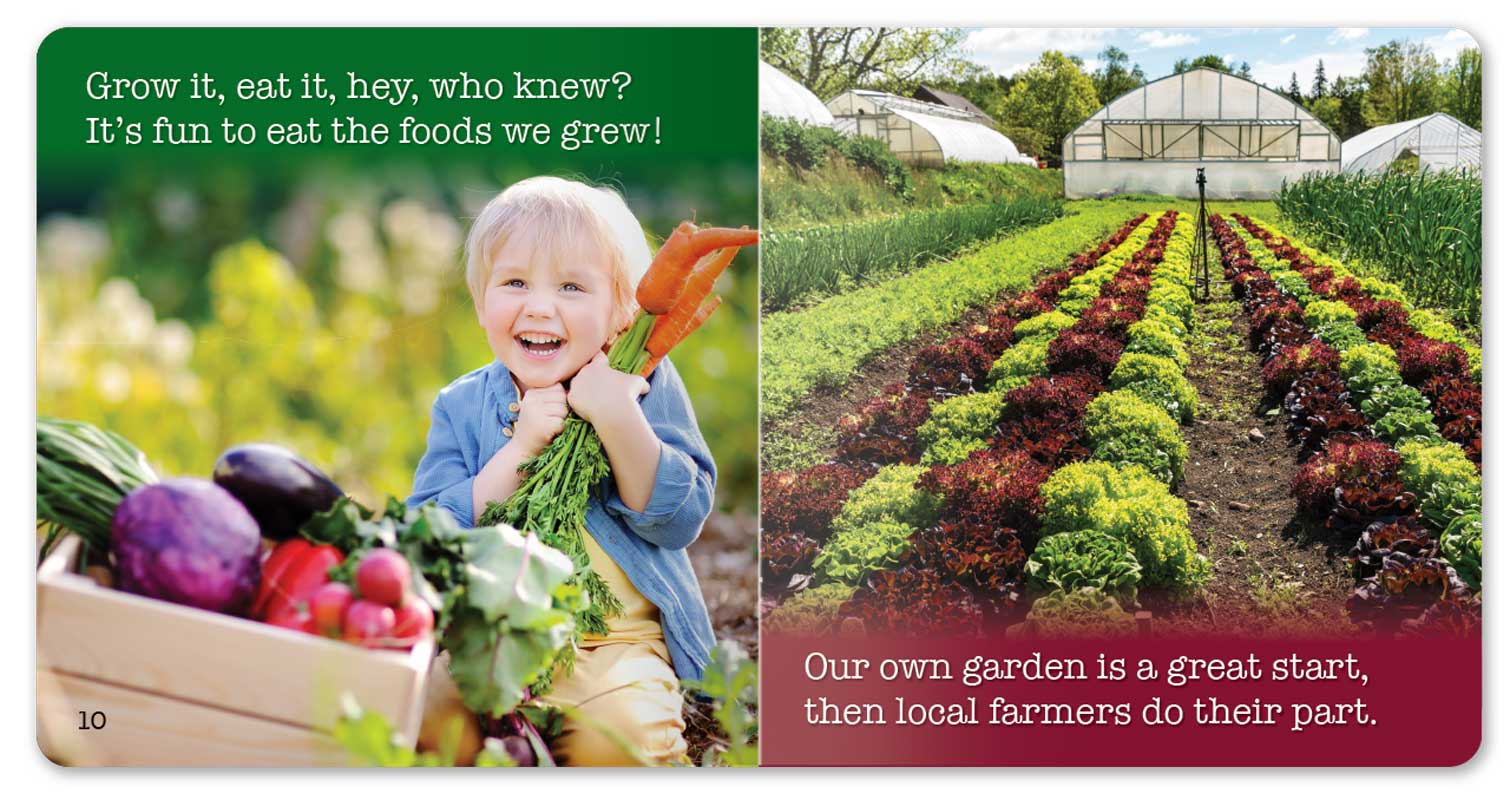 Farm to School and Gardening Too! little book