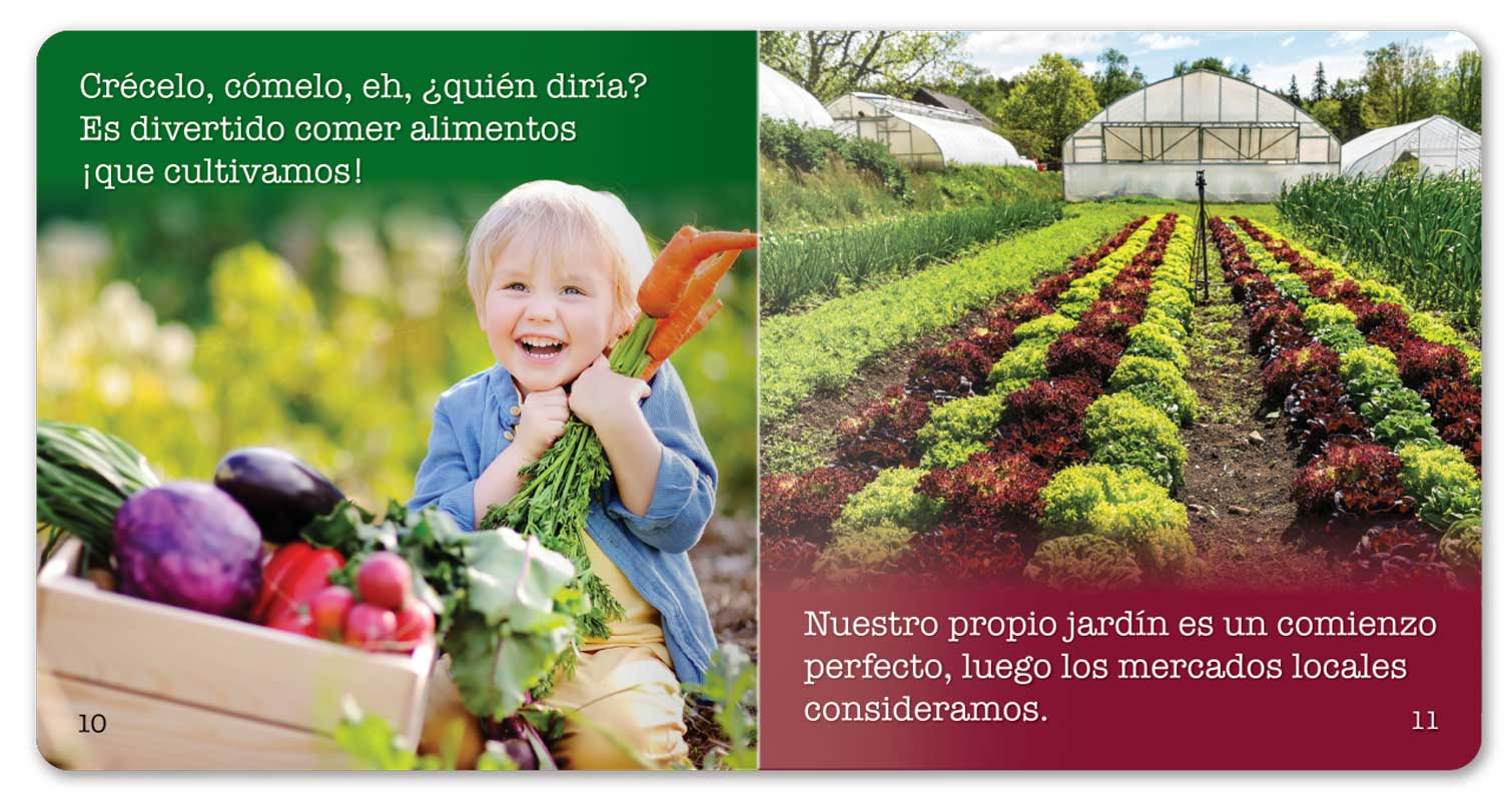Farm to School and Gardening Too! little book - Spanish