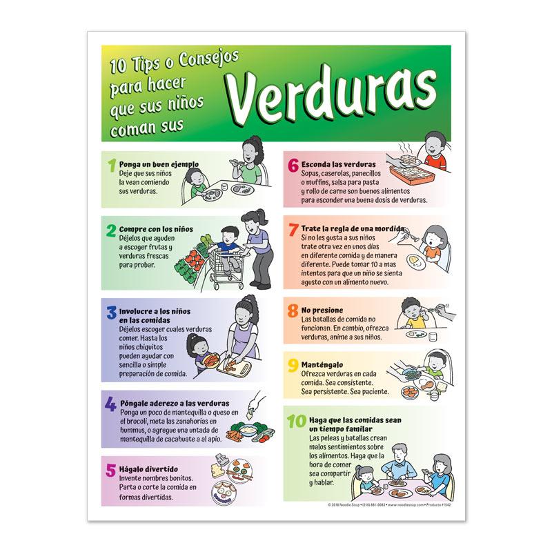 Getting Kids to Eat Their Veggies tear pad - Spanish