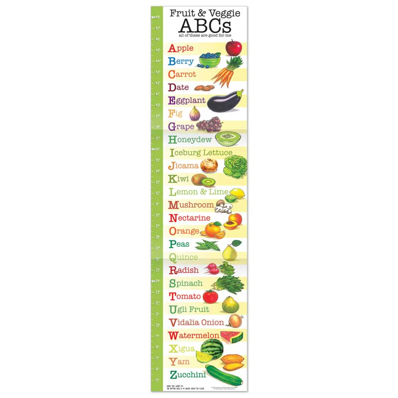 Fruit and Veggie ABC growth chart