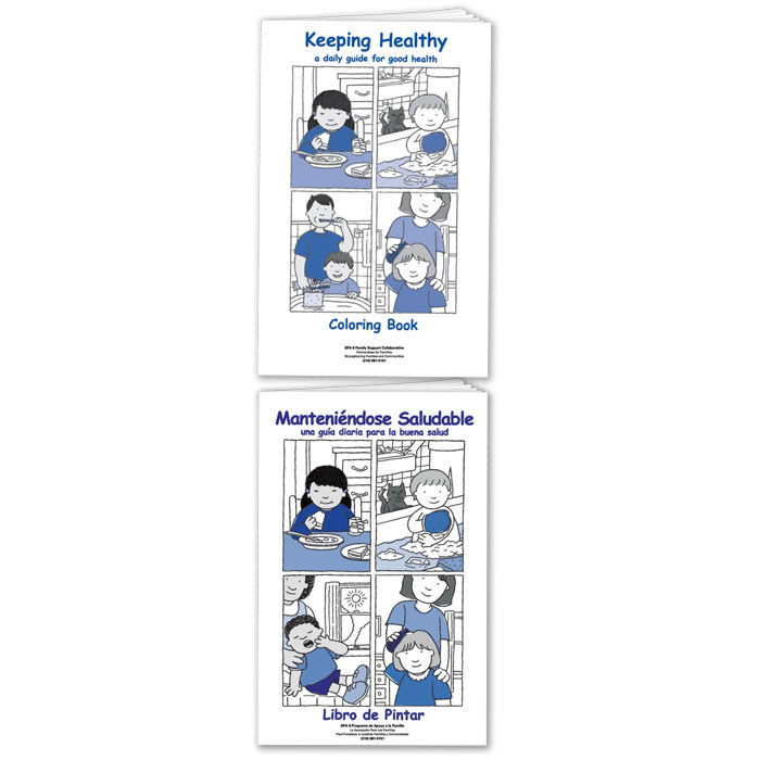 Customized Keeping Healthy Coloring Books