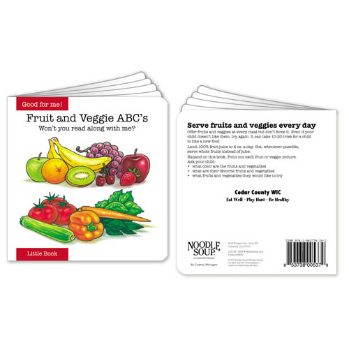 Customized Fruit and Veggie ABCs Little Book
