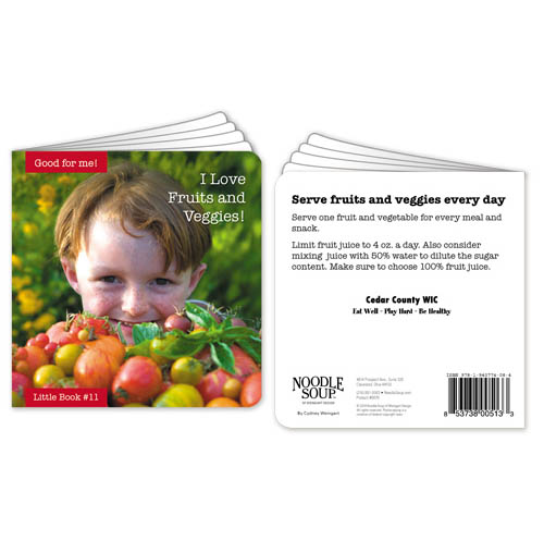 Customized I Love Fruits and Veggies! Little Book