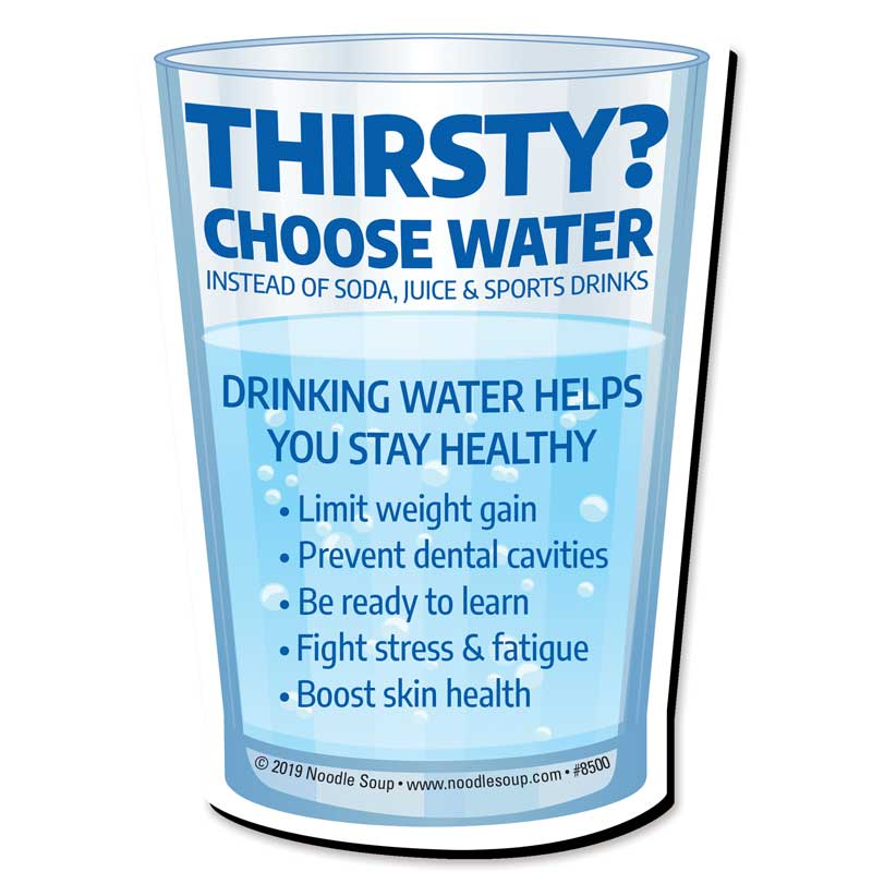 Thirsty? Choose Water magnet