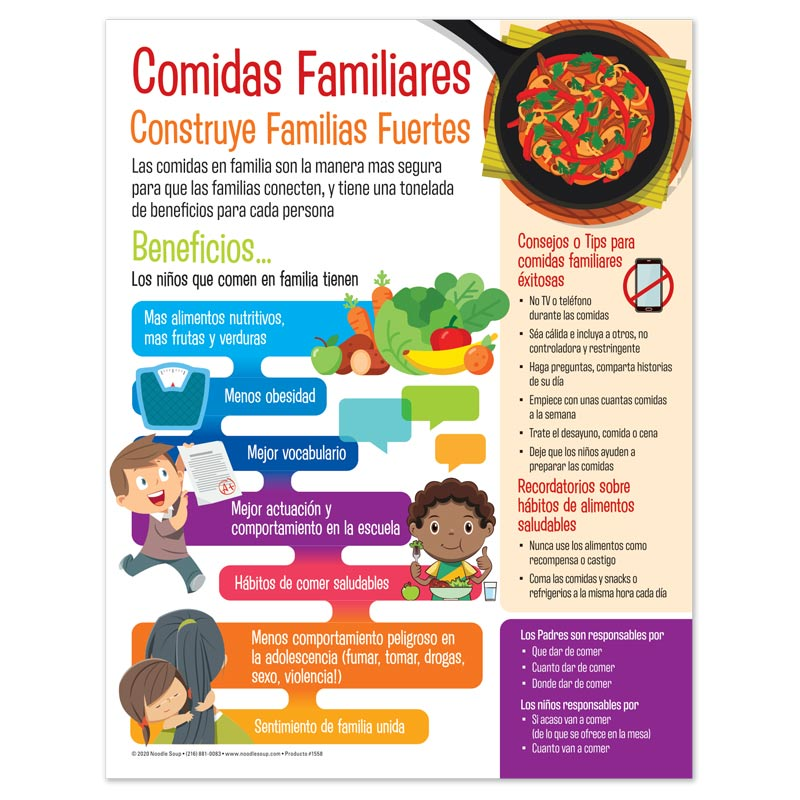 Family Meals Tear Pad - Spanish