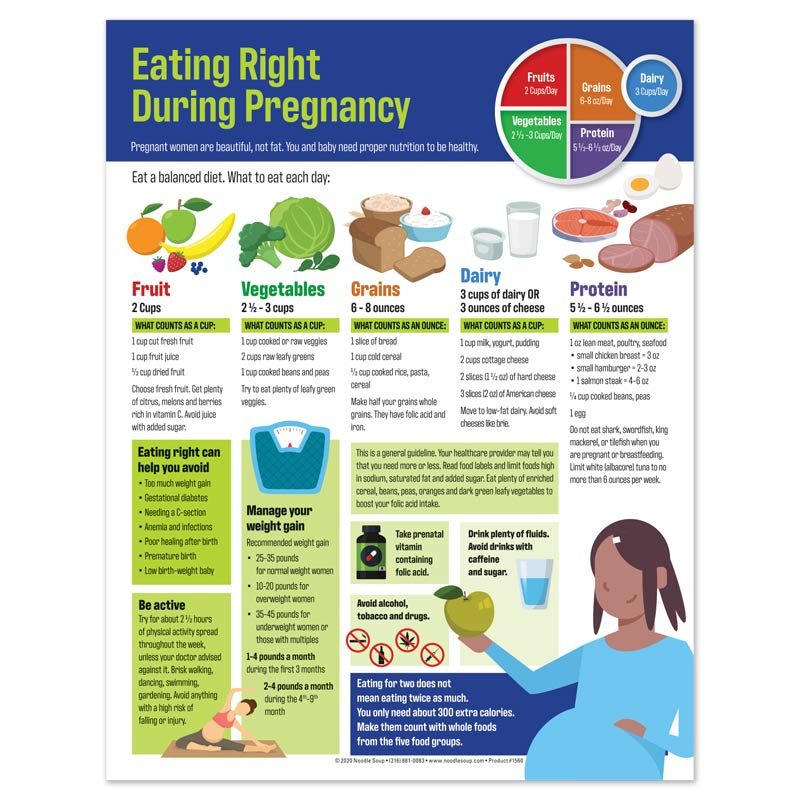 Eating Right During Pregnancy Tear Pad