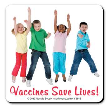 Vaccines Save Lives! magnet