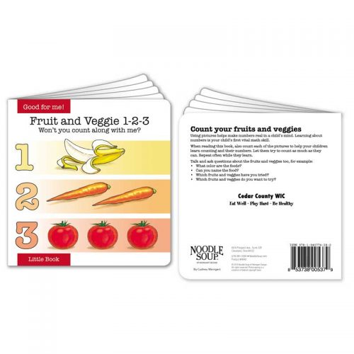 Customized Fruit and Veggie 1-2-3 little book
