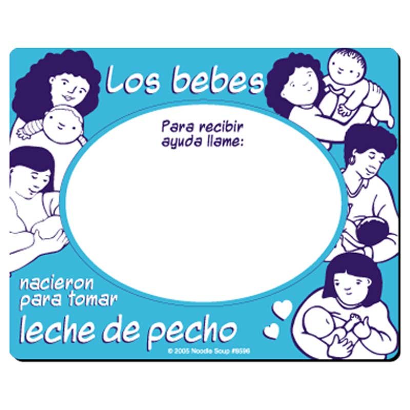 Born to be Breastfed magnet - Spanish