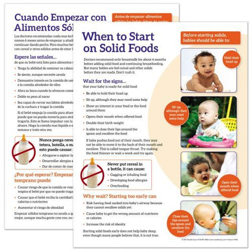When to Start on Solid Foods Tear Pad