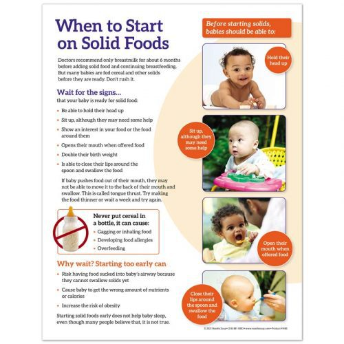 When to Start on Solid Foods Tear Pad - English