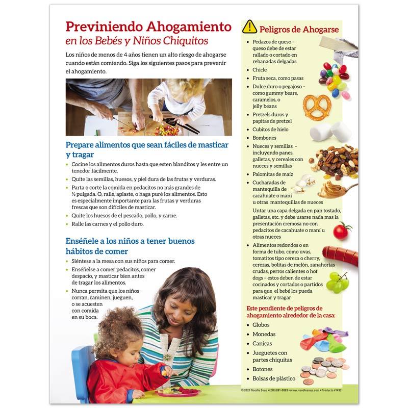 Prevent choking tear pad - Spanish