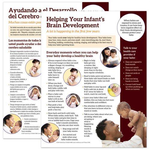 Help your infant's brain develop tear pad